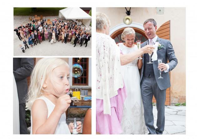 Bröllop Magnus Marina Liv bubblor skål gäster