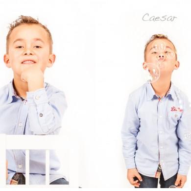 Caesar bra bubblor barnfotografering stol skjorta attityd