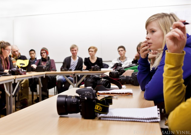 Företagsfotografering Folkhögskola Hemse Fårösund musik fotolinjen