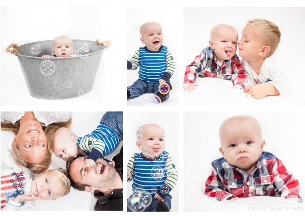barnfotografering bubblor familj badbalja syskon kärlek olle sixten