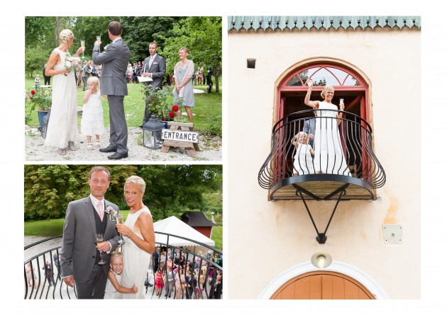 bröllop Magnus Marina balkong skål Liv porträtt