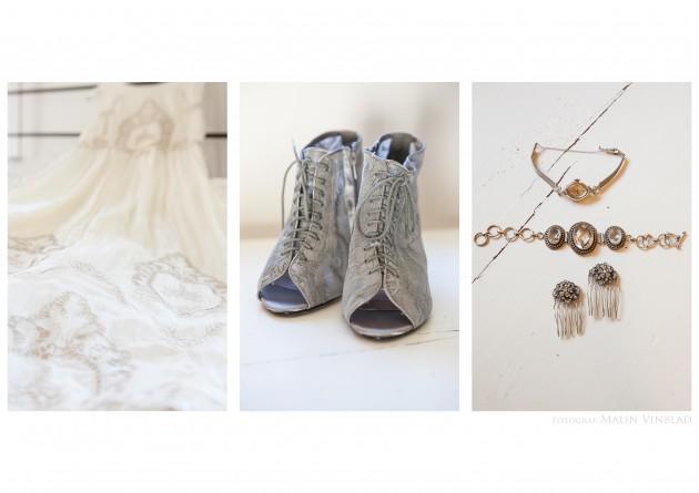 bröllop Magnus Marina klänning smycken skor