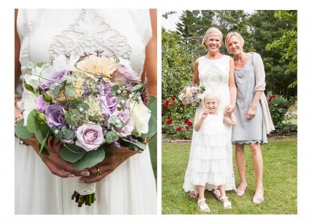 bröllop magnus marina tärna brudnäbb brudbukett blommor vintage