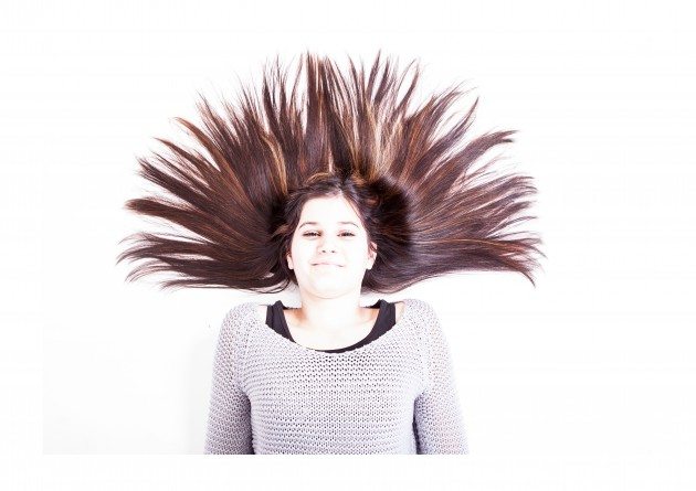 evelin studiofotografering hår porträtt