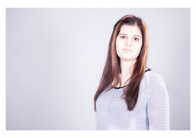 porträtt Evelin par kärlek studiofotografering fotograf Malin Vinblad